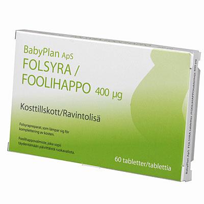 vitaminer innan graviditet