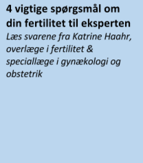 4 viktiga fraagor om fertilitet